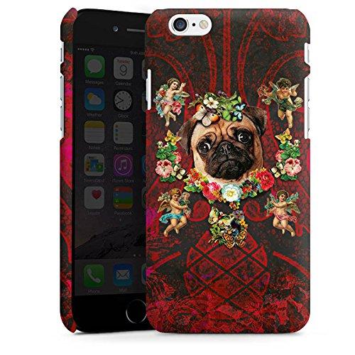 Apple iPhone X Silikon Hülle Case Schutzhülle Mopsi Engel Blumen Mops Hund Premium Case matt