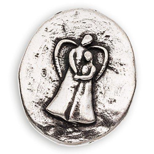 Engel-Münze Rückseite Text 'Du bist Nicht Allien' Angels Welcome versilbert - als Handschmeichler, für den Geldbeutel und als kleines Geschenk im richtigen Moment Größe:28mm -