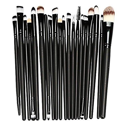 VANKER Maquillage Palette Correcteur 15 Couleurs Contour Crème Visage + 20 PCS Pinceau à poudre Ensemble - Noir