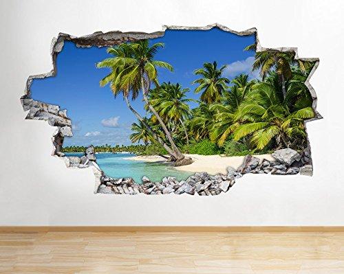 z059sun-sea-ocean-beach-sand-bagno-decalcomania-da-parete-poster-3d-art-stickers-room-medium-52x30cm