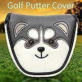 juman634 Golf Mallet Head Cover Putter Cover con Chiusura Magnetica Golf Impermeabile Headcover Accessori da Golf Adatto per la Maggior Parte dei Putter Stile Mallet