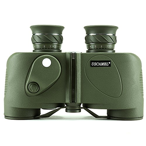 USCAMEL® binocolo 8x 30con bussola ottica cannocchiale Marino impermeabile sport all' aperto, colore: verde militare