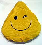 Regenüberzug Smiley gelb Regenchutz Sattelcover Sattelbezug Fahrrad Sattel Bezug