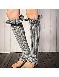 Mujer Botas Gris Zapatos Flores Y Amazon es Para w6pqnYT