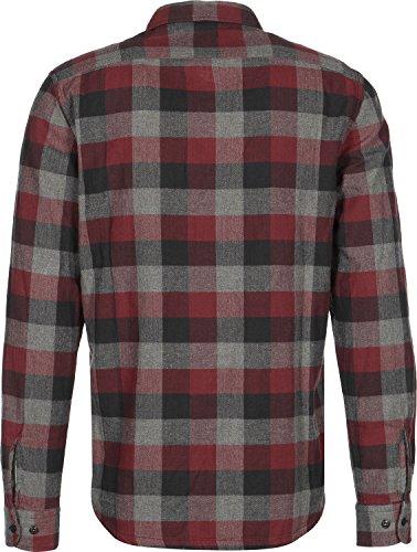 Lee Worker Camicia manica lunga rosso grigio strisce
