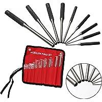 Alftek 9pcs Rollo Pin Punch Tools Kit Ideal para Pistola Edificios & Eliminar de Pines