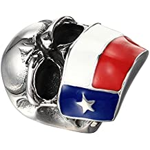 UM joyería Punk gótico Hombres Acero inoxidable Chile Bandera Cráneo motorista anillos ...