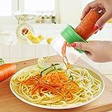 from SIEGES SIEGES 3 Blades Hand Held Spiralizer Vegetable Cutter Spiral Noodles Zucchini Spaghetti Pasta Maker - Best Veggie and Fruit Spiralizing Vegete Cutter Cheese Slicer Food Slicer Mandoline Slicer Non Slip Grip