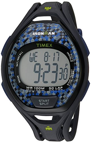 Timex Unisex TW5M07900 Ironman Sleek 50 Full-Size Gray/Blue Resin Strap Watch -
