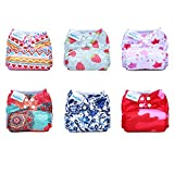 Mama Koala One Size Pocket Washable Adjustable Cloth Diaper,Mama March (Fits 8-35 Lbs)