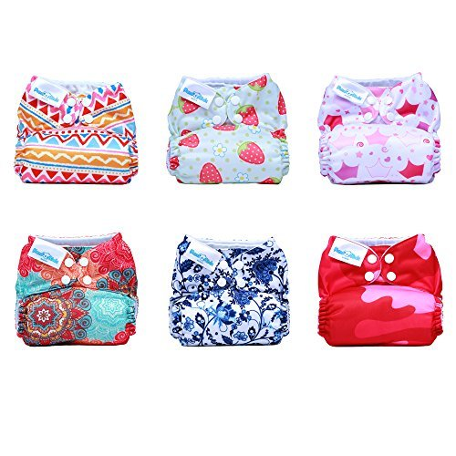 Mama Koala One Size Pocket Washable Adjustable Cloth Diaper,Mama March (Fits 8-35 Lbs) (Koala Pocket)