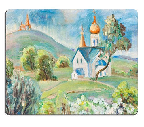 msd-mousepad-bild-25244002-kirche-in-spring-bergen-auf-kann-bluhende-baume-5170