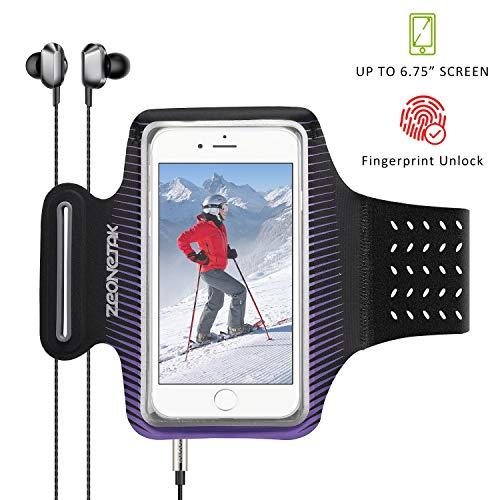 Zeonetak Sport Armband Wasserdicht Reflektierend Breathable Elastic Handytasche für Samsung S8 Plus\ S8\ C7 Pro\ S7\ S8 \Note 8\ C9, iPhone X MAX/XS/XR/ 8/7