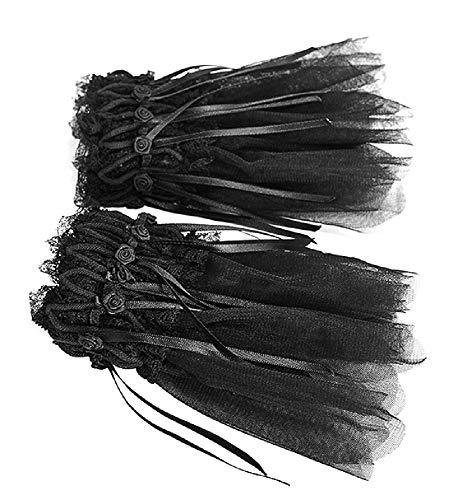 shoperama Damen Hals-Schmuck Halskrause Armschmuck Haarband Manschetten Strumpfband Steampunk Gothic Vampir Punk Rave LS-043