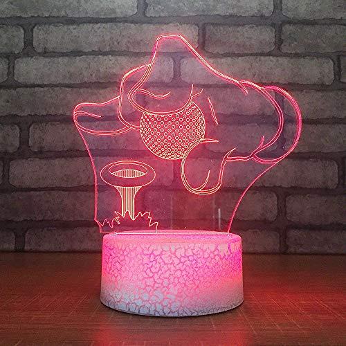 3D Nacht Lightsleeping Beleuchtung Home Decor Hände Golf Ball 7 Farben 3D Led Nachtlichter Kinder Geschenke Humor Lampe
