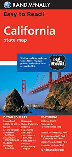 California: State Folded Maps (Rand McNally Easy to Read!) (Karten California)