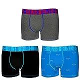 Freegun Lot de 3 Boxers Coton Homme (XL, ASS02)...
