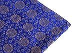 Generic Indischen Brokat Stoff blau golden Stoff Puppe Tuch