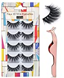Best False Eyelashes - Professional 5 Pack Faux 3D Mink Eyelashes Thick Review
