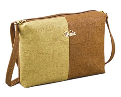 Voaka Women's Brown Yellow Sling Bag…