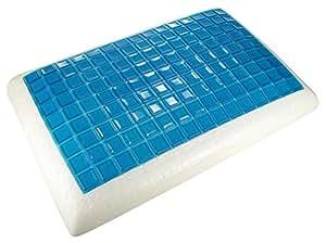 Aubina®, Cool Gel Oreiller mousse à mémoire, CoolMax® Technology, amovible zippée lavable Coussin, Forme traditionnelle