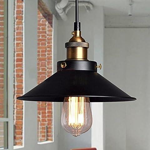 Las luces del techo de la vendimia industrial colgante Retro cortinas de la lámpara de la fábrica de