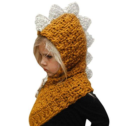 Bellelove Winter warme Woolen Coif Baby niedliche Fox Hood Schal Caps Hüte (Gelb, Größe: - Für Mädchen Hut Indian