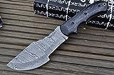 Perkin Knives - Cuchillos de Caza con Funda de Piel Damasco Blade - IRD,RDA,IRW, 10.5 Inches, (Pakka Wood)