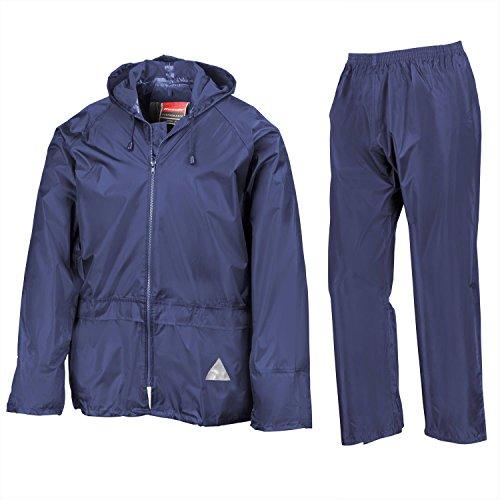 Result Heavyweight waterproof jacket/trouser suit - Royal - XL Lower Side Vent