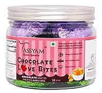 Tassyam Love Bites Chocolate Apricot 20 Pcs | Luxury Hand Made Valentines Special