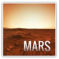 Awesome Square Stickers (Set of 2) 7.5cm - Mars Planet Space NASA Fun Decals for Laptops,Tablets,Luggage,Scrap Booking,Fridges,Cool Gift #8223