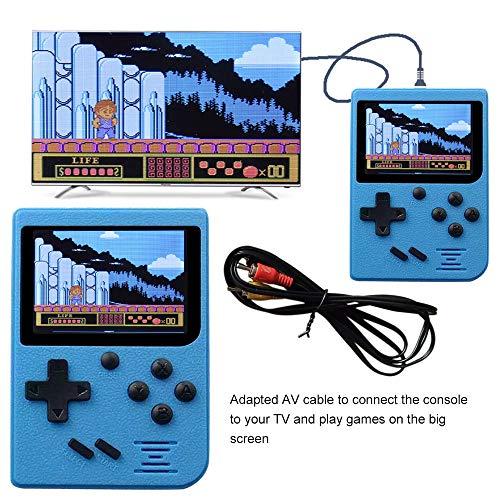 TianranRT Retro Mini Handheld Video Spiel Konsole Gameboy Eingebaut 400 Klassiker Spiele (Blau)