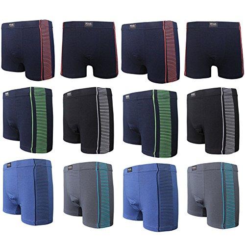 pacco da 4/5/6/8/9/12 vestibilità comoda, Traspirante composizione dei materiali, lavorazione di alta qualità, ampio elastico in vita con Logo 4