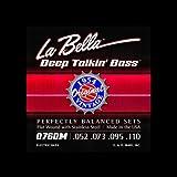 Labella 0760M Fender Style Jeu de cordes pour Guitare Basse 52/100 Flat Wound