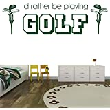 identification plutôt jouer Accueil Art Stickers Décor du golf Sport Citers disponible en 5 dimensions et 25 couleurs Moyen Gris Nuage