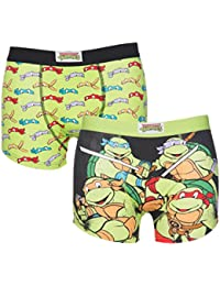 TruffleShuffle Mens Teenage Mutant Ninja Turtles 2 Pack Boxer Shorts In Gift Box