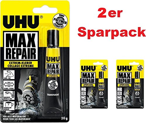 UHU 45820 Max Repair Colle extra forte, tube de 20 g
