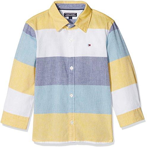 n Hemd Colorblock Oxford Shirt L/S, Weiß (Multi Color 125), 140 (Herstellergröße: 10) (Tommy Hilfiger Oxford-hemd)