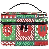 Makeup Train Cases Christmas Advent Calendar Travel Cosmetic Bag Portable Artist Storage Bag Organizer for Womens