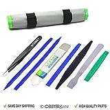 Acenix® Kit de réparation avec outil pour ouverture par levier, spudgers non-abrasif en nylon et pinces anti-statiques [Ensemble professionnel avec 9outils et sac]...