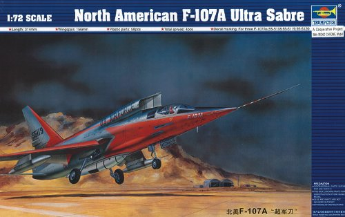 Trumpeter 01605 Modellbausatz North American F-107 A Ultra Sabre