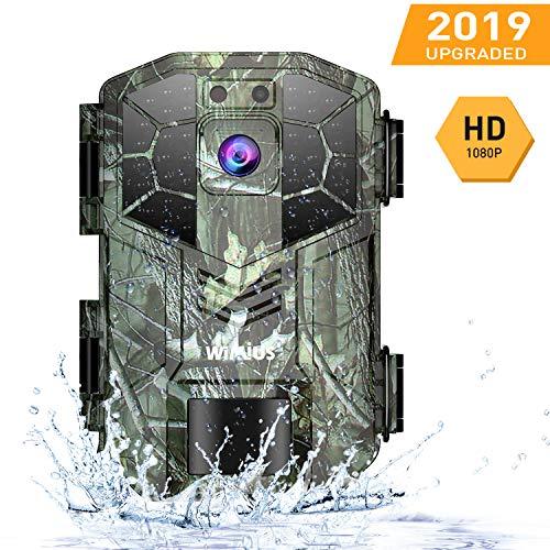 WiMiUS H5 Wildkamera Fotofalle 1080P Full HD 16MP, Infrarot-Nachtsicht bis zu 70Fuß/20 m,IP66 Wasserdicht,für Outdoor-Natur, Garten, Haussicherheitsüberwachung Grün