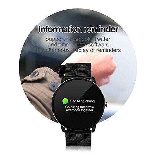 51fiTuGjuPL. SS500  - Jersh Electronic Smart Watch,High Quality Color Screen Fine Steel Strap Multifunction Smart Bracelet Fitness Tracker Unisex Activity Tracker Temperament Smart Watch