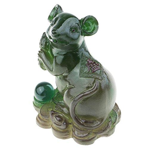 Homyl 1 Stück Tee Haustier Figur Tee Haustier Haus und Garten Wohnaccessoire Ideal für Geschenk - Grün Ratte (Ratten Grüne)