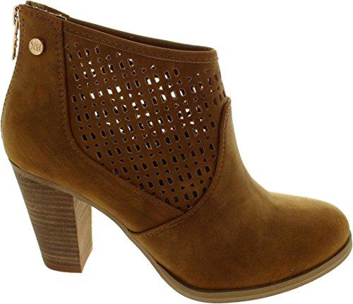 XTI - Jeans Pu Ladies Ankle Boots ., Scarpe da barca Donna marrone/marrone chiaro