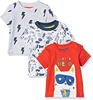 Mothercare Boy's Super Hero - 3 Pack T - Shirt, Multicoloured (Bright Multi), 0-3 Months (Manufacturer Size:56)
