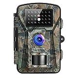 APEMAN Cámara de Caza 12MP 1080P IP66 Impermeable 24 LED de IR Invisible 2.4 '' LCD Visión Nocturna hasta 20m para Fauna Seguridad Hogar Mascota Animal