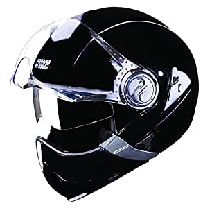 Studds Downtown SUS_DFFH_BLKL Full Face Helmet (Black, L)