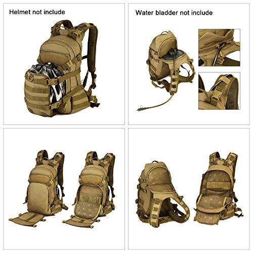 SUNVP 25L Tactical Radfahren Rucksack Molle Military Assault Pack Armee Tasche Daysack Rucksack für Wandern Camping Reiten Im Freien Tasche ACU Tarnung ACU Camouflage