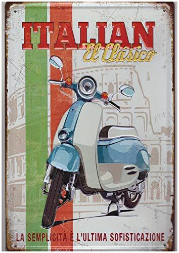 A.G.S. Retro Blechschild Vespa Roller Motorroller Piaggio Nostalgie Metallschild 3D -